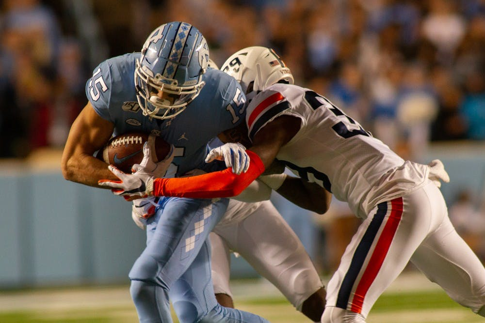UNC football falls to UVA, 38-31, in crucial divisional matchup
