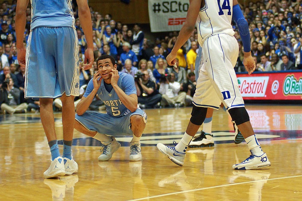<p>Marcus Paige reacts after a foul.</p>