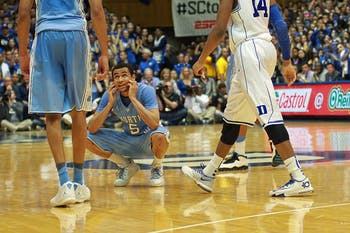Marcus Paige reacts after a foul.