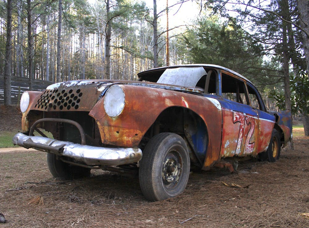<p>The Occoneechee Speedway used to be a thriving NASCAR track in the '50s and '60s until the state government banned racing on Sundays.</p>