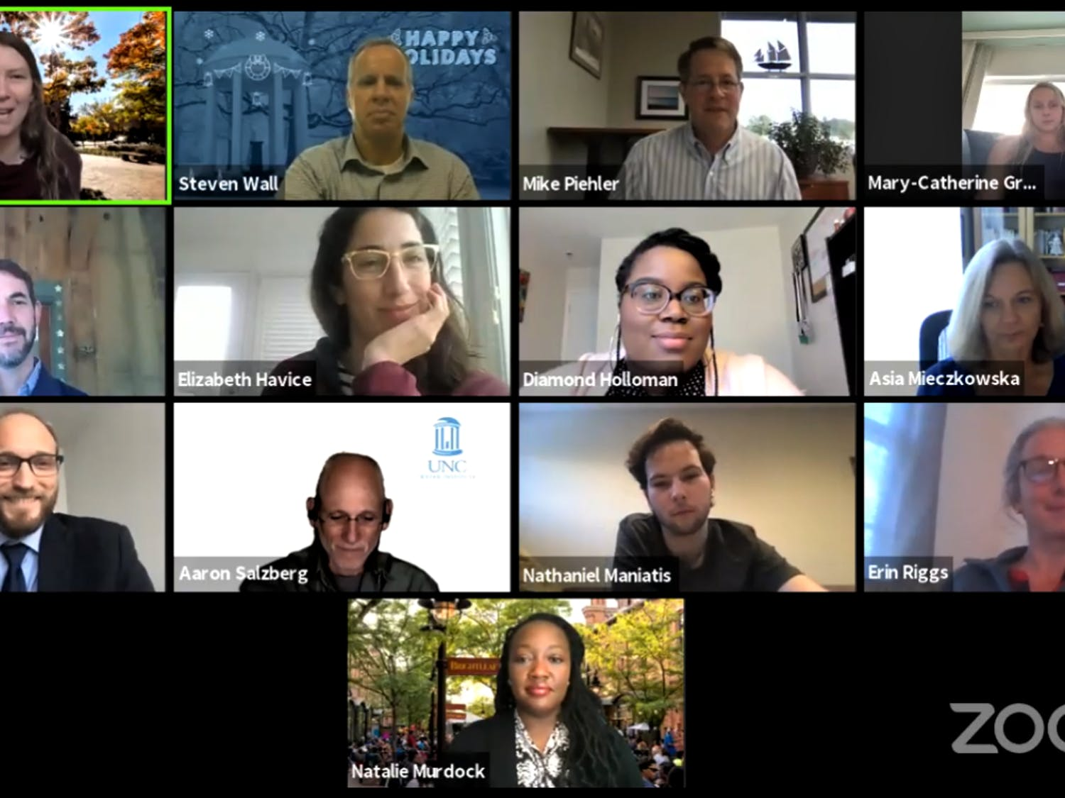 UNC's Carolina Sustainability Council met virtually on Monday, Dec. 14, 2020 to discuss sustainability efforts, how the council will run, and what the future roadmap of UNC will look like.