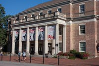 Memorial Hall is located between Phillips Hall and Gerrald Hall on Cameron Ave. at UNC-Chapel Hill.