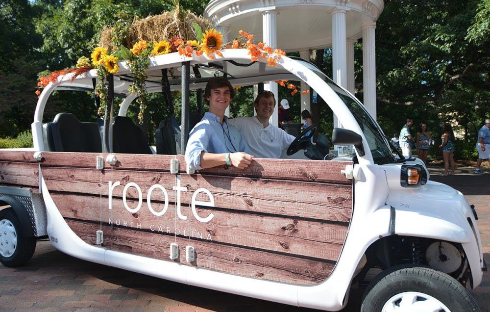 UNC sophomores launch free electric car transport