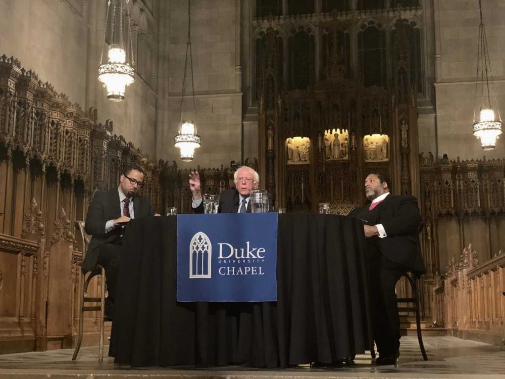 US Sen. Bernie Sanders and Rev. William Barber hold public forum at Duke