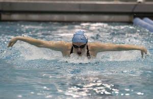 Hannah Runyon-Hass swims the Women's 200 Yard Butterfly.