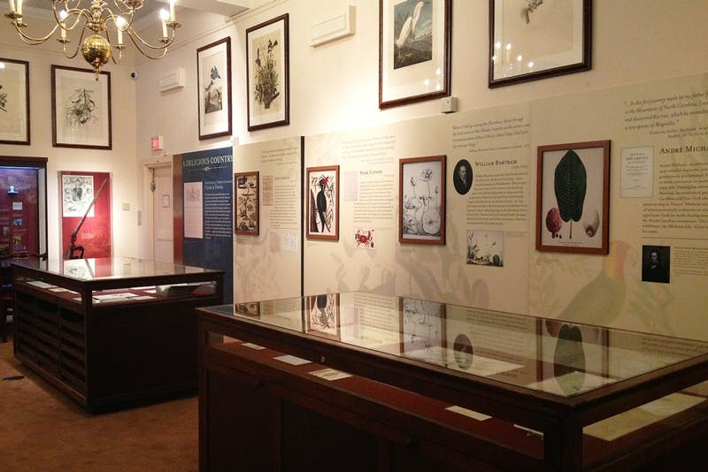 """Highlighting the legacy of John and William Bartram, the """"Following in the Bartrams' Footsteps"""" traveling exhibit is on display at the North Carolina Botanical Garden through Nov. 2."""