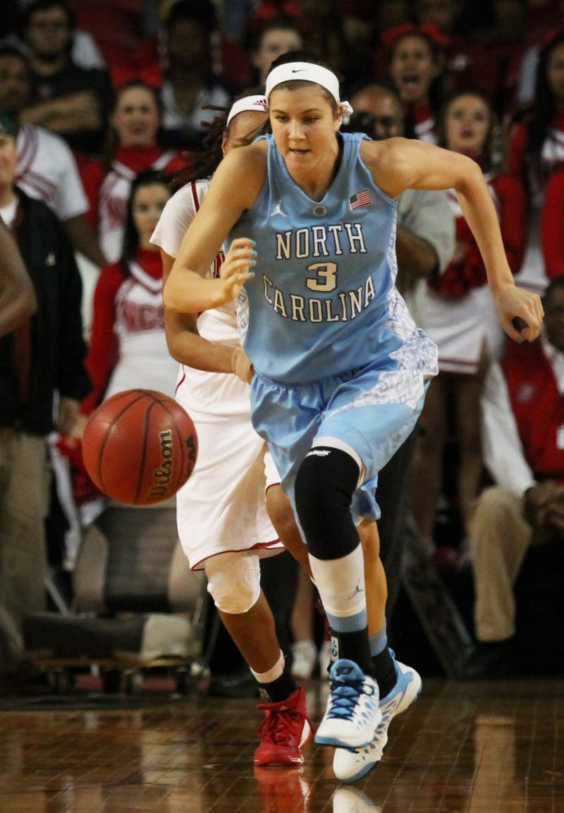 Megan Buckland chases down a loose ball.