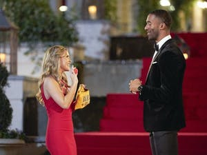 """Matt James, the star of ABC's hit romance reality series """"The Bachelor,"""" will hand out the roses for its momentous 25th season. Photo courtesy of Craig Sjodin/ABC."""