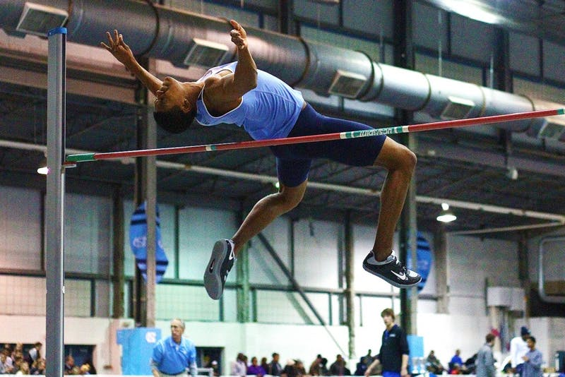 Redshirt sophmore Paul Haley competed in the 60-meter hurdles, high jump and long jump in the Dick Taylor Carolina Cup Friday and Saturday.
