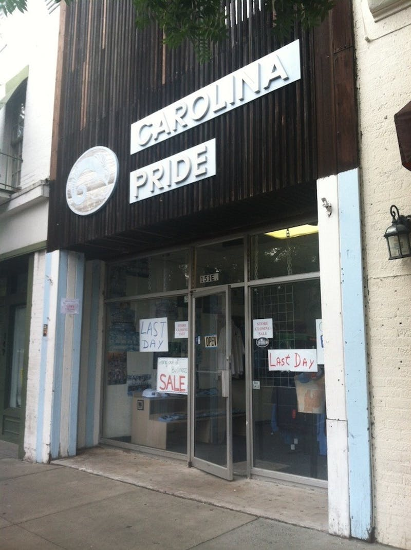 Carolina Pride sportswear held a going-out-of-business sale Tuesday.