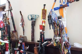 Anthony Sharp is one of the featured artists in the CEF Art Show. Photo by Jon Young.