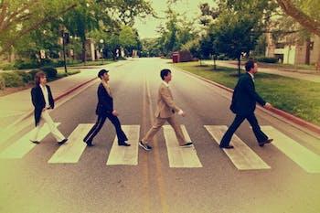 Abbey Road LIVE!, a Beatles tribute band. Photo courtesy of Michael Wegner.