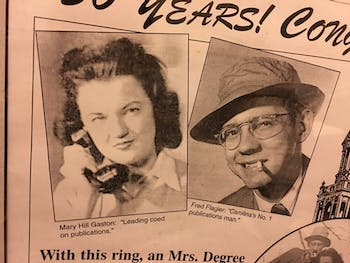 Mary Hill Gaston and Fred Flagler were featured in the Yackety Yack — years before children Betsy Flagler and Eleanor Flagler-Hardy would join The Daily Tar Heel. Photo courtesy of Betsy Flagler