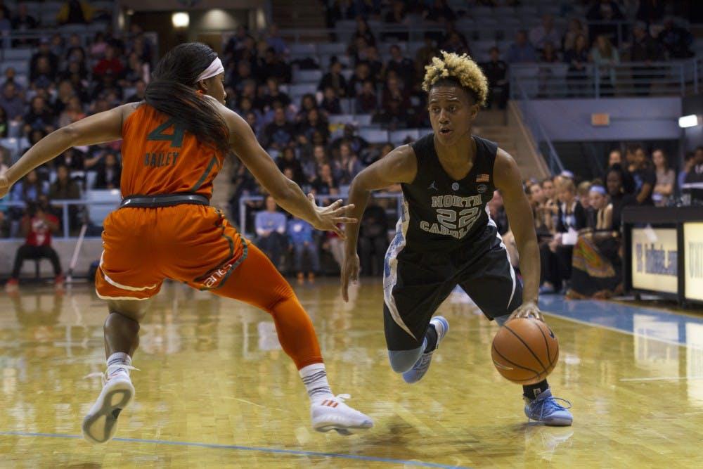 Third quarter run powers Miami over North Carolina women's basketball, 92-72
