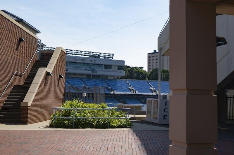 Seats of Kenan Stadium on Sunday, June 7, 2020.
