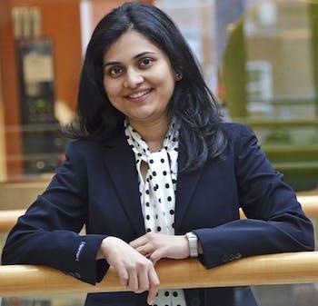 UNC Ph.D. student Mugdha Gokhale was recognized for her work in pharmacoepidemiology. (Courtesy of Carolina Public Health Magazine)