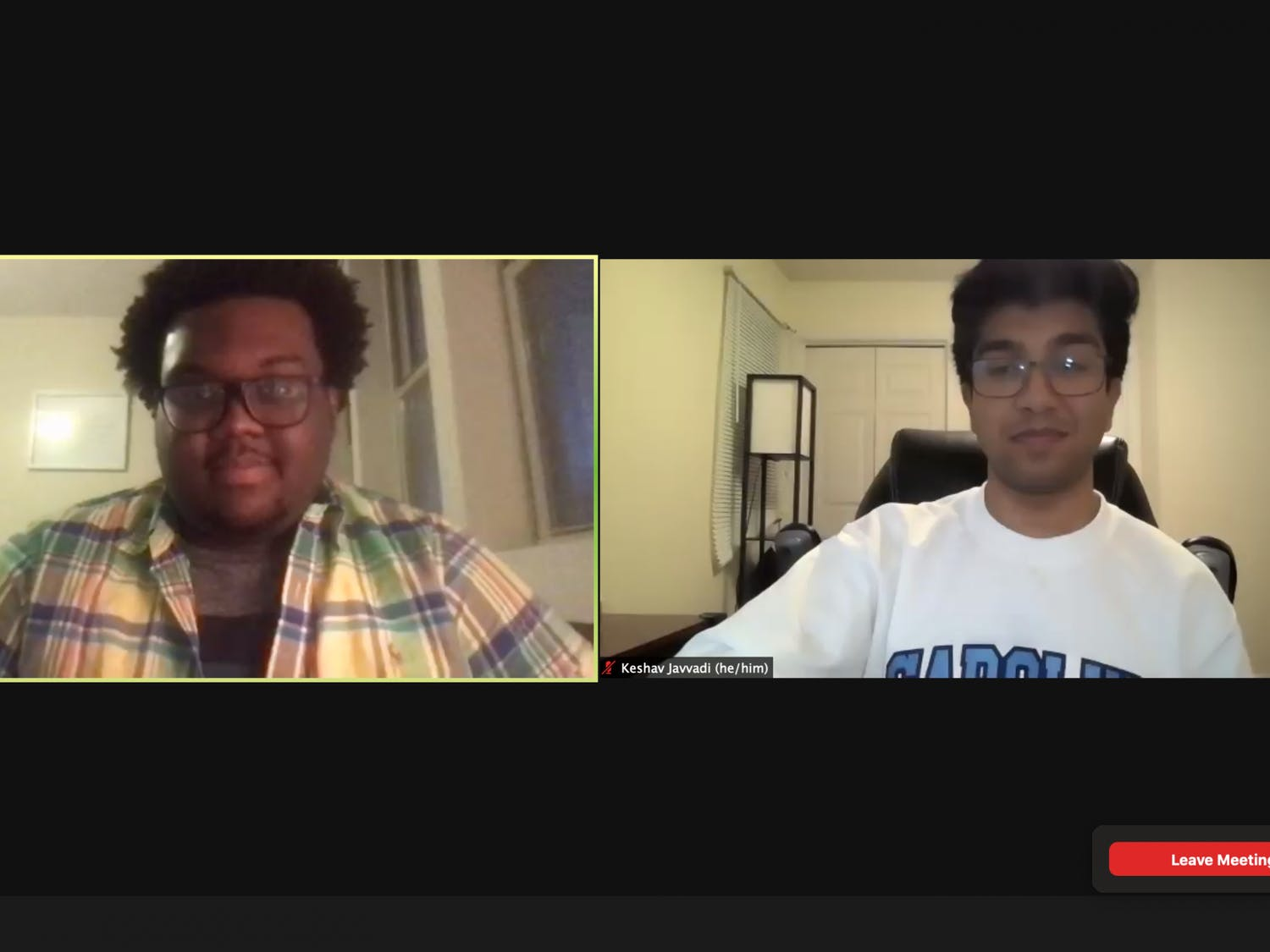 Screenshot from the final Student Body President candidate debate held over Zoom on Monday, Feb. 22, 2021.