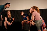 The Tammy Tailors, a local improv group comprised of six women, performed at the Varsity Theatre on Franklin Street on Friday night.