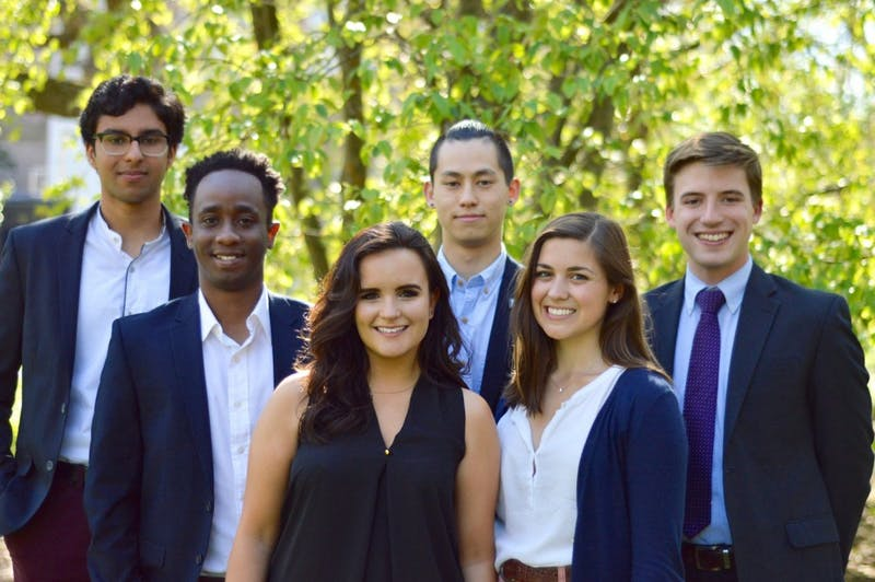 The leadership of the Institute of Politics. Photo taken by Alessandro Uribe-Rheinbolt and courtesy of Tanner Glenn.