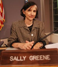 Leaving a legacy behind, it was Sally Greene's last Town Council meeting Monday night.