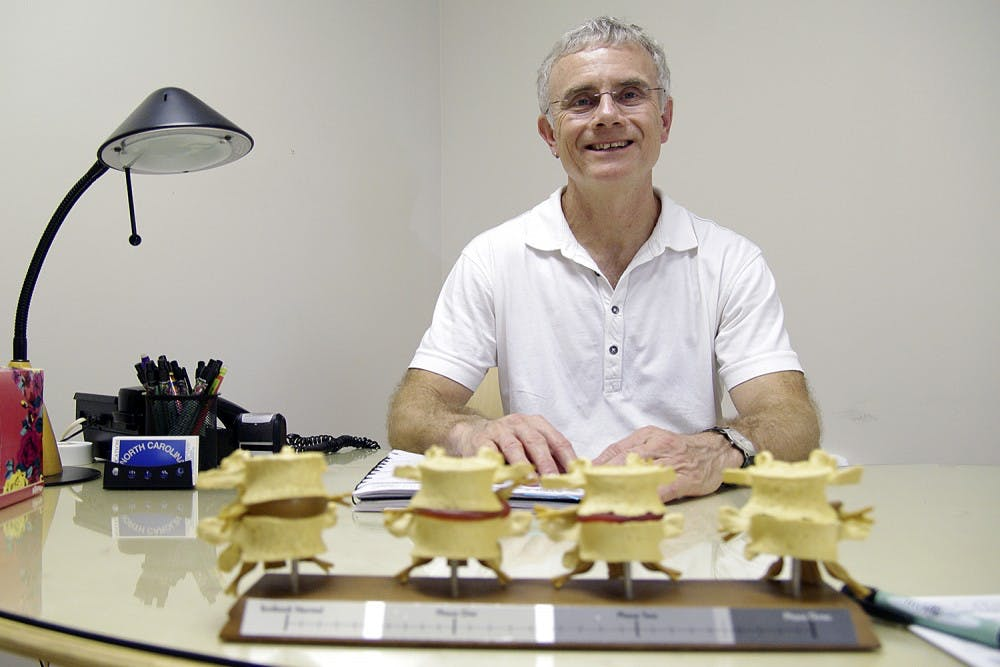 Longtime Chapel Hill chiropractor Chas Gaertner leaves town