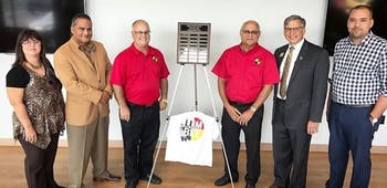 The Lumbee Tribe Enterprises LLC at their graduation from the UNC-Pembroke Entrepreneurship Incubator. Photo courtesy of Ron Oxendine.