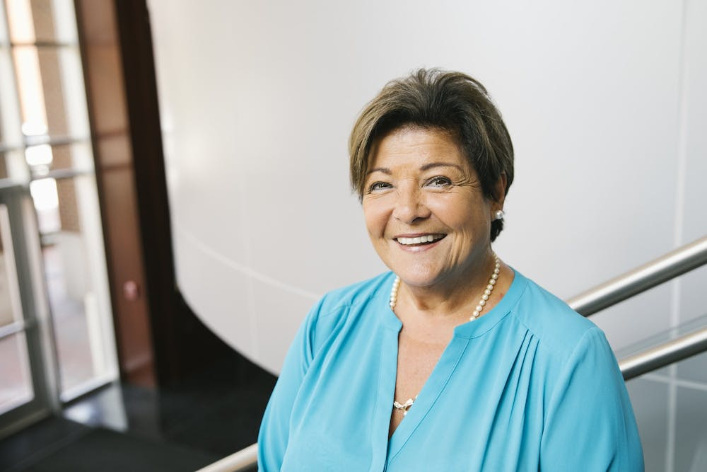 Nena Peragallo Montano is retiring soon from her post as the dean of the UNC School of Nursing. Photo Courtesy of Nena Peragallo Montano.