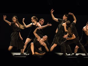 """The Batsheva Dance Company performs """"Venezuela"""" at Memorial Hall Tuesday, April 2, 2019. As a part of Graduate Student Appreciation Week 2019, UNC graduate students were invited to watch the dance team perform and provided with free entry to the show."""
