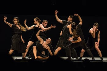 "The Batsheva Dance Company performs ""Venezuela"" at Memorial Hall Tuesday, April 2, 2019.  As a part of Graduate Student Appreciation Week 2019, UNC graduate students were invited to watch the dance team perform and provided with free entry to the show."