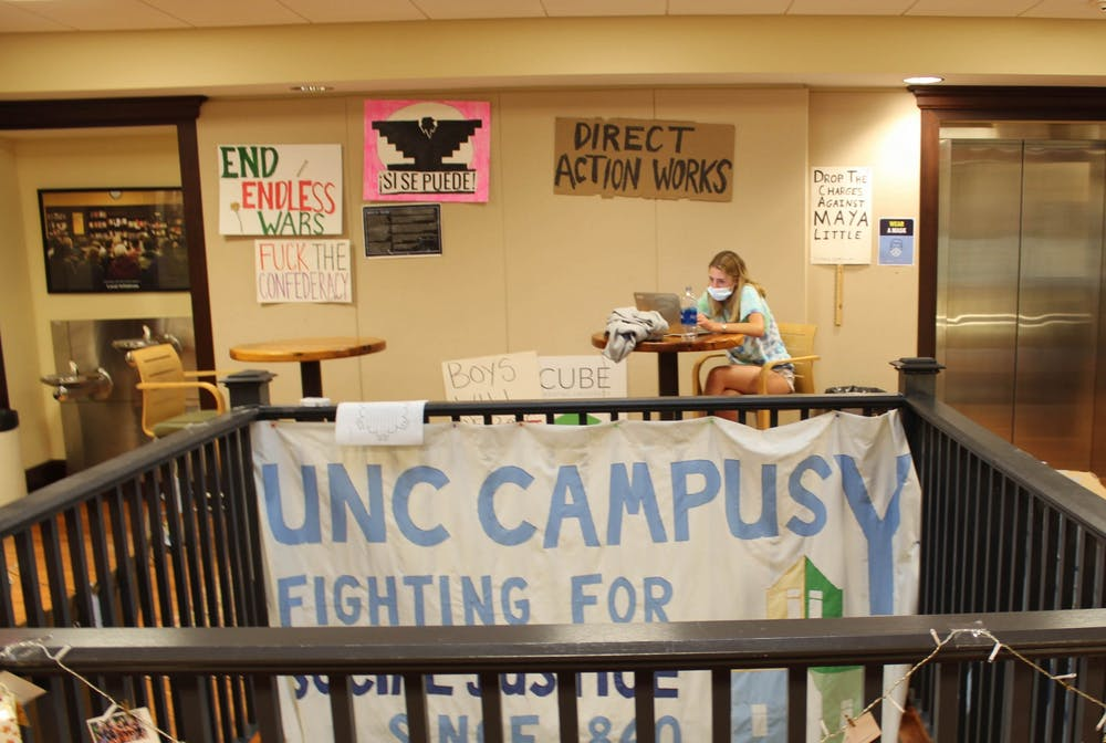 A student studies on the second floor of the Campus Y on Oct. 4.