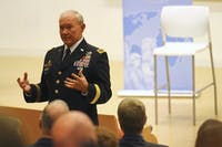 General Martin E. Depsey, the chairman of the U.S. Joint Chiefs of Staff, spoke in the Genome Sciences Building on Feb. 6 at 5:30pm.