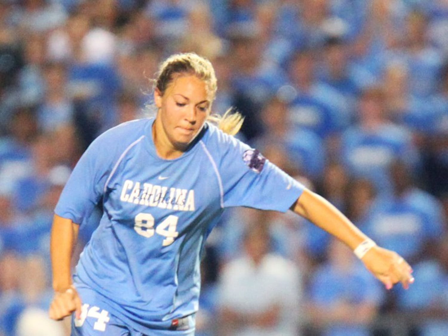 UNC women's soccer defeated Notre 2-1 in overtime on Sunday, August 26, 2011.