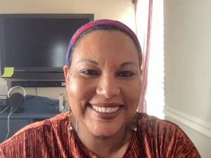 """Terza Lima-Neves presents her new book at a Zoom meeting on Oct.12. The book tells the stories of Cabo Verdean women. """"I just want us (Cabo Verdean women) to feel seen, to feel celebrated,"""" Lima-Nerves said about the inspiration behind her work."""