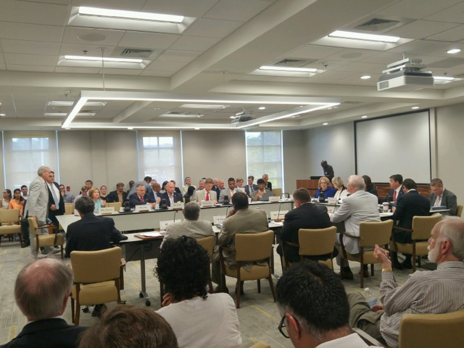 The Board of Governors' Committee on Educational Planning, Policies, and Programs voted 5-1 to recommend a litigation ban on UNC's Center for Civil Rights at its Aug. 1 meeting.