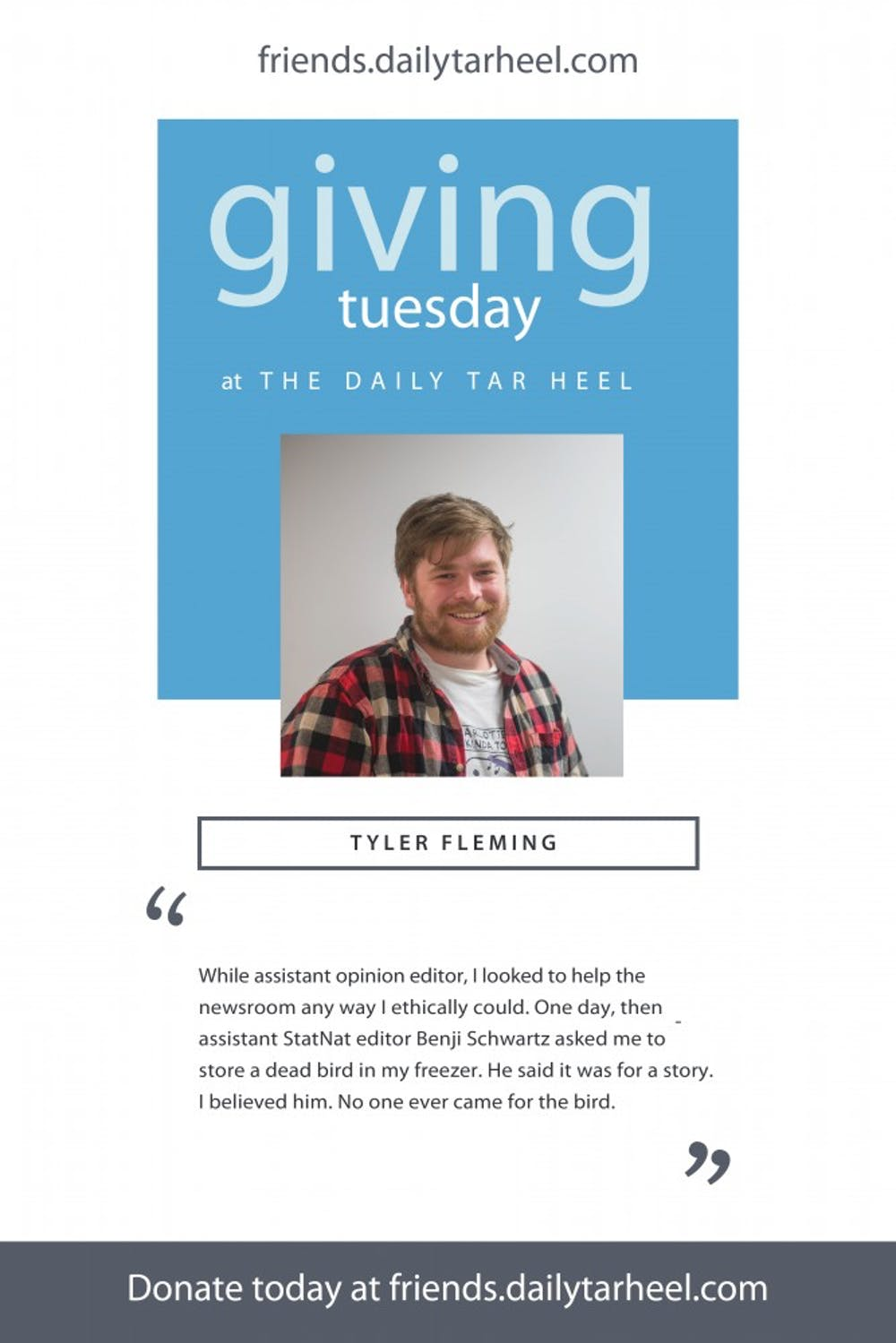 Consider donating to The Daily Tar Heel this #givingtuesday