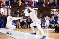 Michael Facci against Duke University on Saturday February 9, 2019 at Duke University's Card Gym.