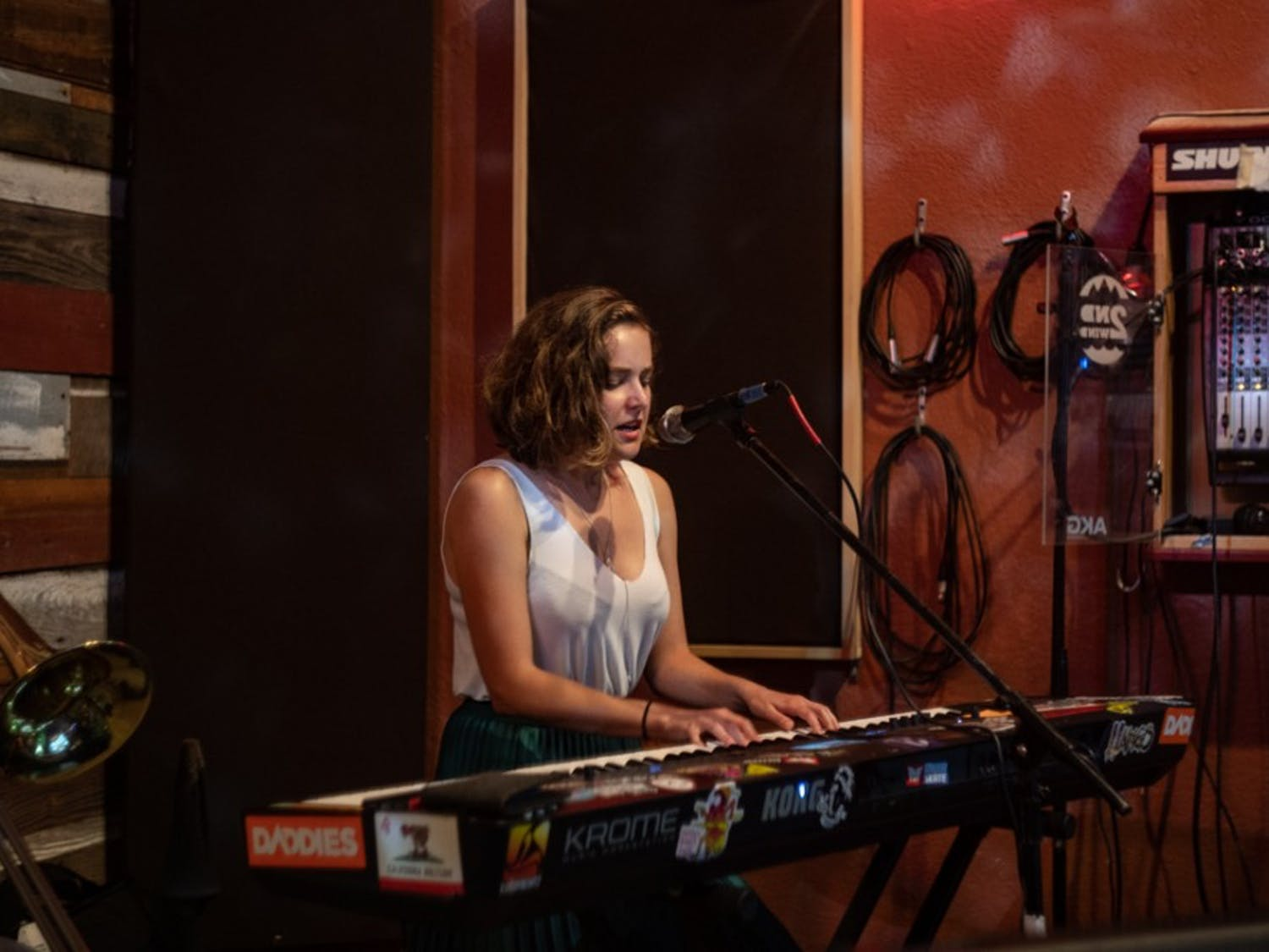 Rachel Despard is a music student at UNC and a local musician. Despard performs and records original work with her band, while also balancing music studies. Photo courtesy of Spencer Zachary.