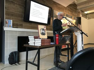 William Andrews presents a lecture on Tuesday, April 2, 2019 to promote and discuss his newest publication.