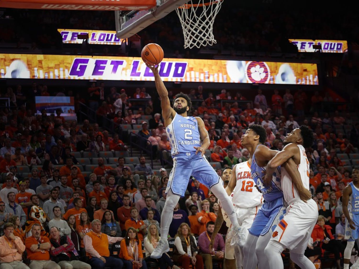 The UNC men's basketball team defeated Clemson 89-86 in overtime on Tuesday night. UNC guard Joel Berry put up a career-high 31 points.