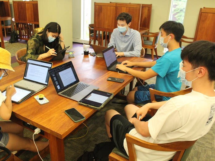 Students study at the Undergraduate Library on Sept. 1.