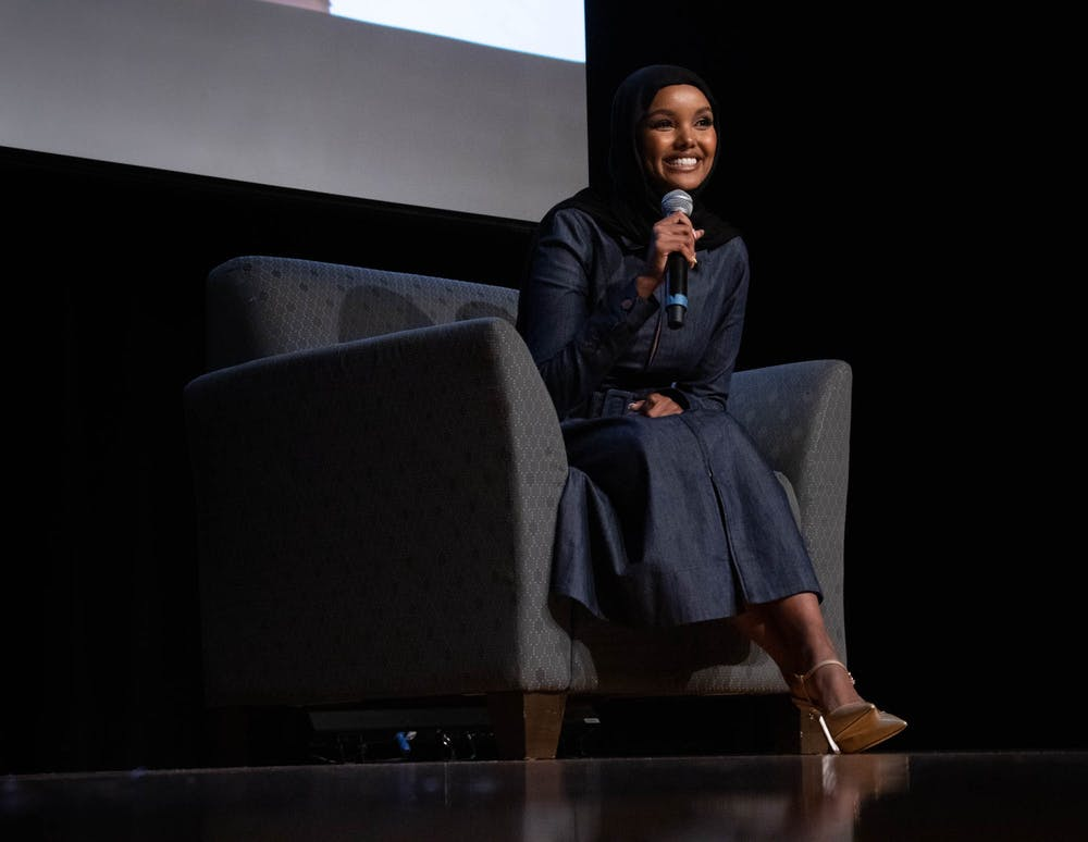 The UNC Muslim Students Association interviews supermodel Hamila Aden for MSA Live in the Great Hall on Oct. 9.