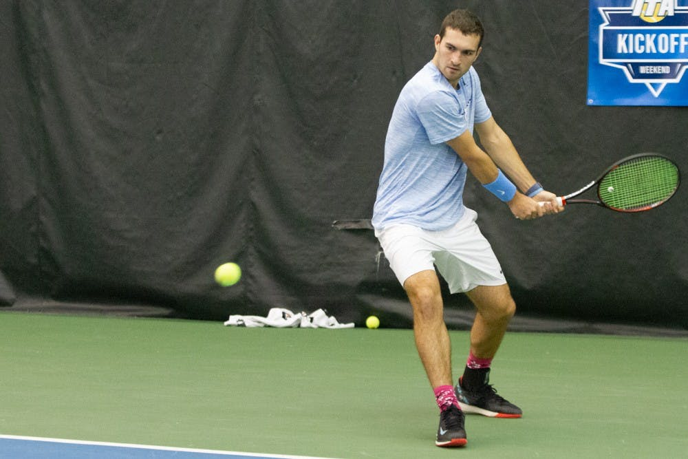 UNC men's tennis drop final match after making it to ITA Indoor Championship Final