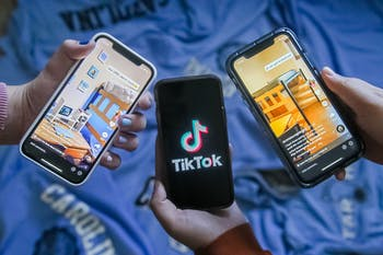 DTH Photo Illustration. UNC students are using social media platform TikTok to create videos criticizing the University's reopening amid the COVID-19 pandemic.