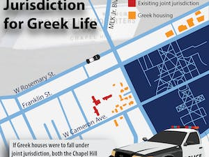 If Greek houses were to fall under joint jurisdiction, both the Chapel Hill Police and UNC Police Departments could respond to incidents on the properties.