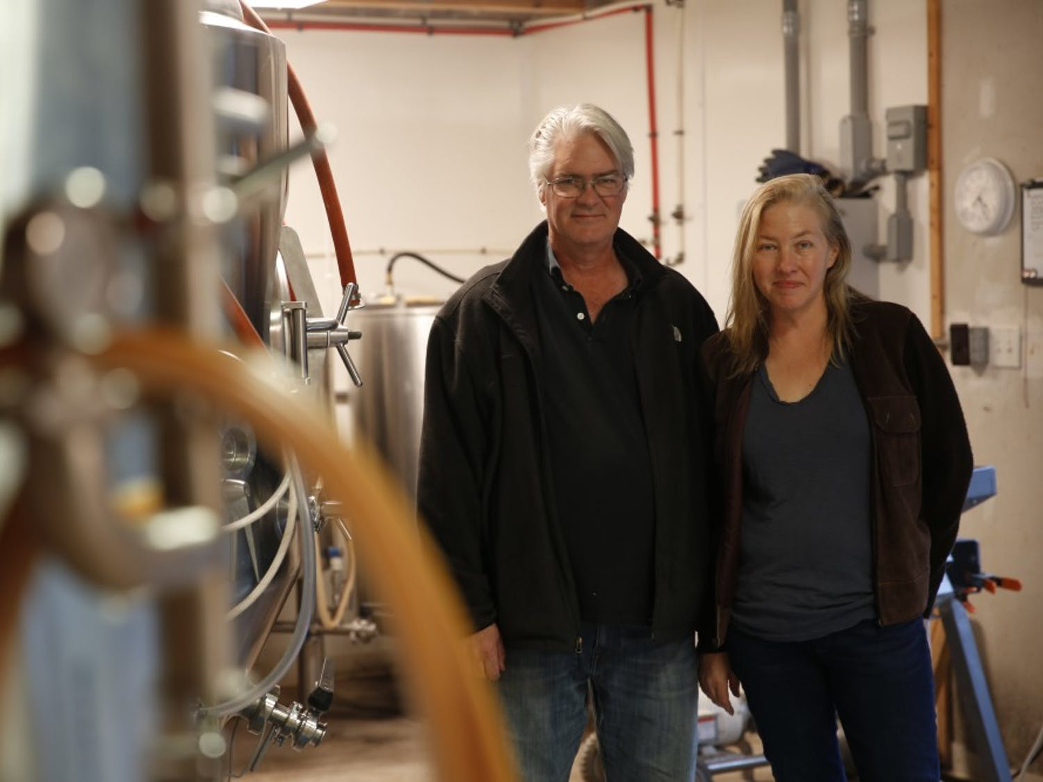 Tim Harper (left) and Beth Boylan (right) are the co-founders of the Durham-based Starpoint Brewery, one of many local breweries in the area growing out of the recent explosion of brewery culture.
