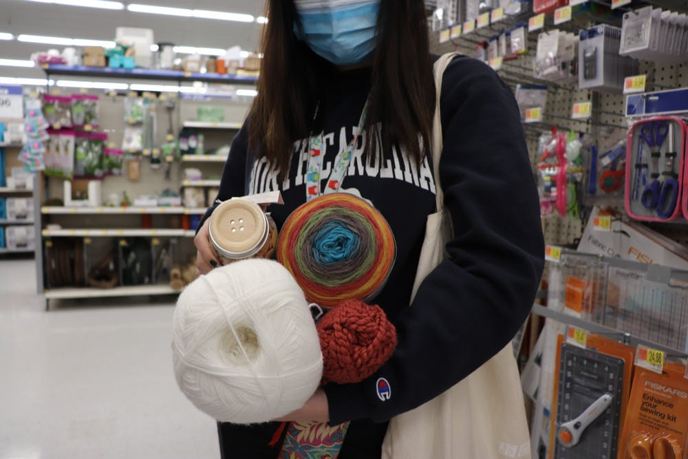 Embroidery, crocheting, poetry, graphic design, and even TikTok are just a few of the various projects UNC students have taken up during the pandemic.