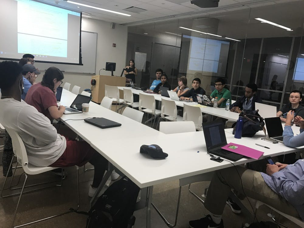 <p>The 99th Undergraduate Student Senate met Tuesday to discuss amendments to the Student Code.</p>