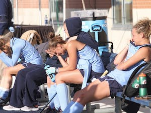 The Tar Heels fell to University of Delaware 3-2 in the NCAA championship game last season.