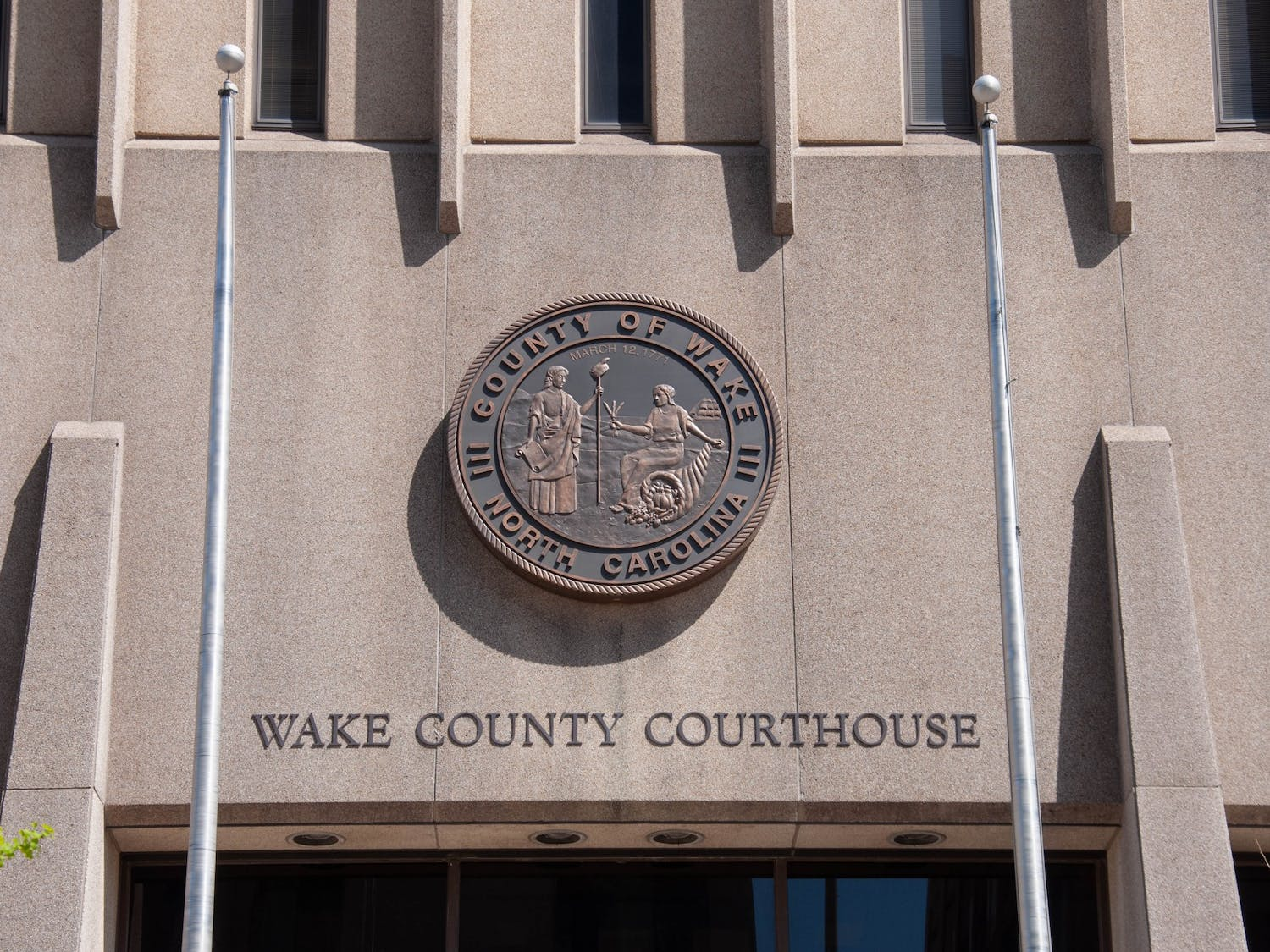 The Wake County Courthouse in downtown Raleigh, NC on April 4, 2021. A bill that was recently passed in the senate about raising the minimum age for juvenile delinquency from 6 to 10 now moves to the house.