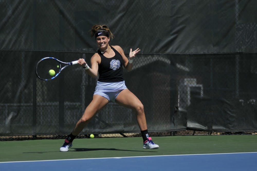 No. 2 UNC women's tennis shuts out Pittsburgh to remain perfect in conference play